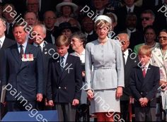 May 07, 1995: Prince Charles, Lady Diana, Prince William & Prince Harry attend the Heads of State VE Remembrance Service for the 50th Anniversary Celebration of VE Day in Hyde Park , London