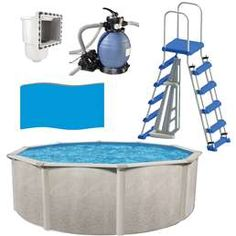 Append an appealing feature to your backyard with the selection of this excellent Cornelius Round Above Ground Pool with Sand Filter Ladder Liner Skimmer.