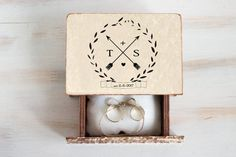Personalized Ring Bearer Box Wedding Ring Box by MyHouseOfDreams