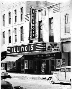 The Illinois Theatre in Macomb, IL.  The building still exists, but it is no longer a movie theatre.  At one time it had a Manley Aristocrat popcorn machine in its concession stand.