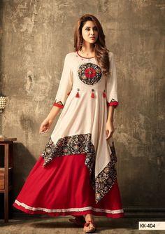 Different types of stylish kurti neck designs - ArtsyCraftsyDad Kurti Neck Designs, Blouse Designs, Gharara Designs, Churidhar Designs, Pakistani Dresses, Indian Dresses, Stylish Dresses, Women's Fashion Dresses, Latest Dress For Women
