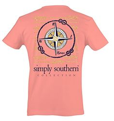 Simply Southern Womens Preppy Compass Melon M * Click image for more details.