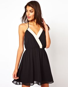 ASOS Pretty Wrap Cami Skater Dress