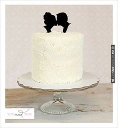 Silhouette Wedding Cake Topper By Simply Silhouettes | VIA #WEDDINGPINS.NET