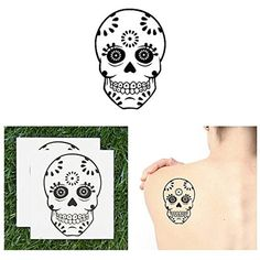Tattify Cute Sugar Skull Temporary Tattoo - Fresh To Death (Set of 2) - Other Styles Available and Fashionable Temporary Tattoos - Tattoos that are Long Lasting and Waterproof ** Click on the image for additional details. (This is an affiliate link and I receive a commission for the sales) #TemporaryTattoos