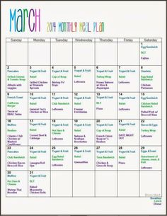 March Monthy Meal Planning Free Printable w Recipes Organize Plan MealPlan Recipes FreePrintable Family Meal Planning, Budget Meal Planning, Budget Freezer Meals, Frugal Meals, Healthy Dinners, Weeknight Meals, Healthy Food, Monthly Meal Planner, Weekly Menu