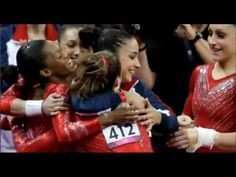 U.S. Women's Gymnastics Wins Team Gold Medal 2012 London Olympics 2012 Summer Olympics, Usa Olympics, Gaby Douglas, Us Gymnastics Team, London Olympic Games, I In Team, The Magnificent Seven, Olympic Gold Medals, Female Gymnast