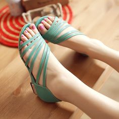 2014 New  Women's Sandals Summer Fashion Roman sandals hollow low heel shoes ,lady casual shoes size 34-39 Free shipping,XWZ110  $23.oo