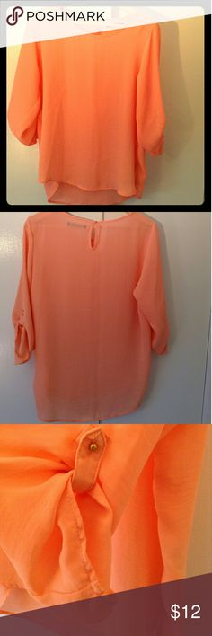 Crazy sale!! 🎉 Blouse Beautiful salmon flowing blouse, 100% polyester. New, never worn! Primark Tops Blouses
