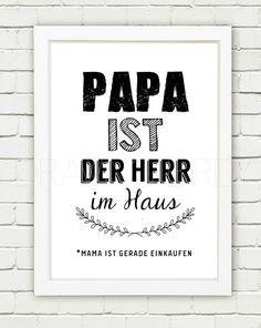 """Kunst - """"Papa ist der Herr im Haus"""" Originald... - ein Designerstück von Drawing-Birdy bei DaWanda"""