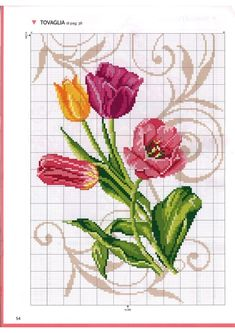 Mini Cross Stitch, Cross Stitch Rose, Cross Stitch Flowers, Cross Stitch Charts, Cross Stitch Patterns, Christmas Embroidery Patterns, Embroidery Motifs, Cross Stitch Embroidery, Embroidery Designs