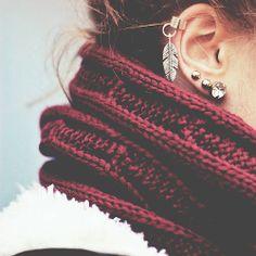 Ear Jewels + Scarf