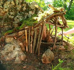 fairy house built from natural materials