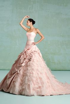 @Heather Sullivan have you thought about going pink? This dress makes me want to get married again!