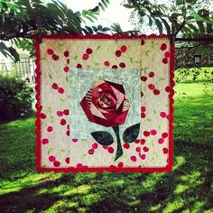 Mini quilt for a friend by synnovekri, via Flickr