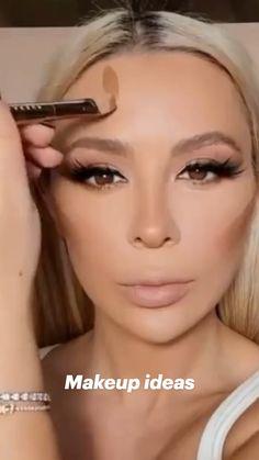Nose Makeup, Makeup Face Charts, Eyebrow Makeup Tips, Makeup Tutorial Eyeliner, Makeup Eye Looks, Beauty Makeup Tips, Contour Makeup, Skin Makeup, Nose Contouring