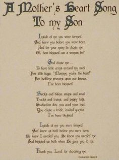 God Chose Me We Are Blessed 10 4 Quotes For Your SonMother