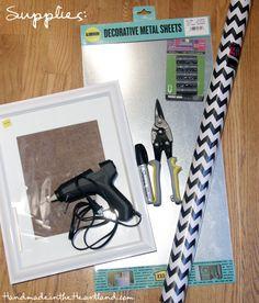 DIY Magnetic Makeup Board Supplies