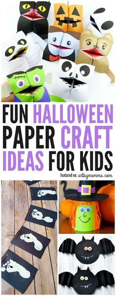 Kids Halloween Paper Craft Ideas That Are Easy To Make!