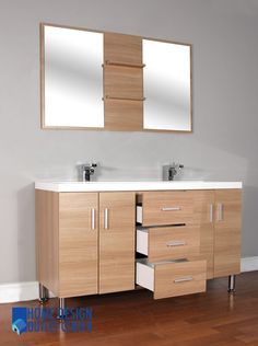 1000 images about at 8043 l double modern bathroom vanity on pinterest modern bathroom - Light oak bathroom vanity cabinets design ...