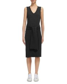 Whistles Tie Front Knit Dress | Bloomingdale's