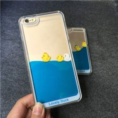 Cute Bathing Little Duck One Piece Blue Liquid IPhone 5/5S/6/6S Cases