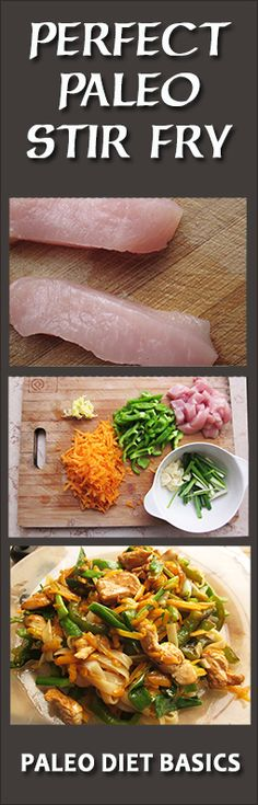 My favorite lunch is a stir fry. It's so fresh, colorful. Check out this deliciousness at www.paleodietbasics.net