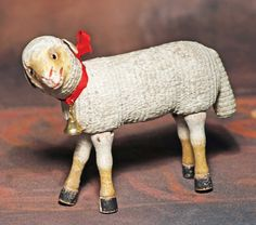 RARE SCHOENHUT CARVED WOODEN SHEEP WITH GLASS EYES. 6 : Lot 98