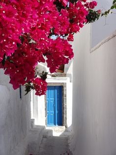 What is behind the blue #door  Cyclades, #Greece