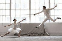 Fencing and Ballet.  ..... #epee #escrime #esgrima #fencers #ballet #fencersfashion #time #ballerinas #loveballet #lovefencing #fencingballet #sport #womensfencing #scherma #beautiful #bella #mensfencing