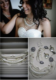 DIY Pearl and Beaded Necklace - so many variations of this possible!!