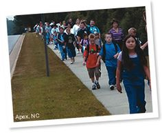 Walking school bus - this is a movement toward safe routes to school, especially for urban youth, with an emphasis on physical exercise and adult involvement in keeping kids safe.