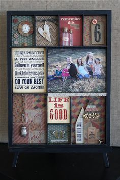 DIY: Family Shadow Box..add more than one pic if you'd like -put in your own little touches & personalize it..
