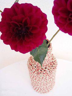 Tutorial jarrón de ganchillo de Espacio Crochet #naturadmc