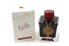 J. Herbin 1670 Anniversary Fountain Pen Ink - 50 ml Bottle - Rouge Hematite || Have it, love it! :D