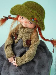 """""""Пуговка"""" - коллекционная кукла,авторская кукла,куклы ксении зайцевой"""