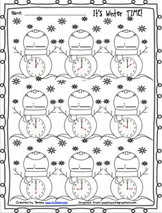4 Math Worksheets Coloring Pages Winter Time √ Math Worksheets Coloring Pages . 4 Math Worksheets Coloring Pages . Adding Subtracting Fractions Worksheets in Math Worksheets Kindergarten Math Worksheets, In Kindergarten, Math Activities, Telling Time Activities, Fractions Worksheets, Teaching Time, Teaching Math, Second Grade Math, Homeschool Math
