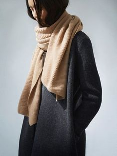 Camel & Gray. Fashion Gone rouge.See: http://www.cosstores.com/us/Women/Hats_Scarves_Gloves