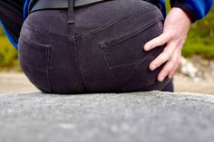My corduroy booty :) Sitting down for a rest in my cozy corduroys