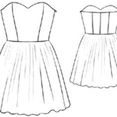 Lace Strapless Dress pattern