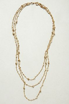 Layered Cabochon Necklace #anthropologie