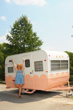 Honey Bean, the camper trailer [http://honeybeeinthecity.blogspot.com/2011/09/say-hello-to-honeybean.html]