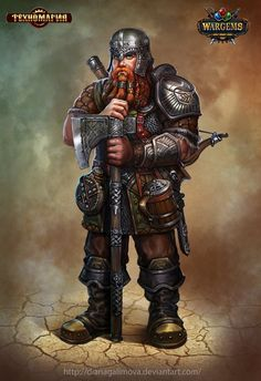 The Gnome Warrior, Diana Galimova on ArtStation at https://www.artstation.com/artwork/rzEg2