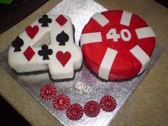 Poker themed 40th Birthday Cake