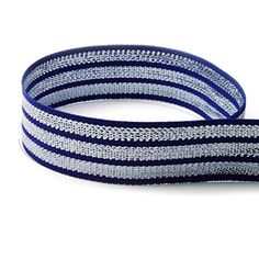 5 Yards 7/8' Tri-stripe Navy Silver Woven Grosgrain Ribbon Good Crafted DIY Ideas *** Visit the image link more details.