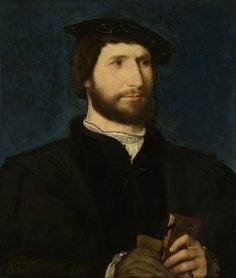 Portrait of a Man Holding a Volume of Petrarch, Jean Clouet, 1530