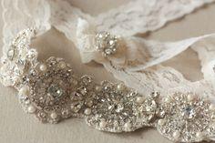 Bridal garter set - Lace floral from MillieIcaro