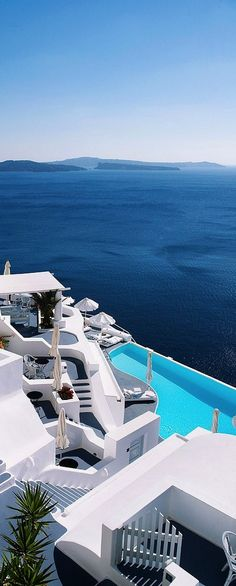 Pool in Santorini