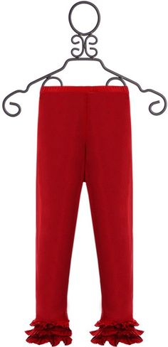 Persnickety Boutique Leggings for Girls in Red (6-12Mos12-18Mos18-24Mos)