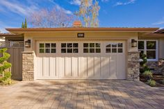 craftsman style garage doors Garage And Shed Craftsman with driveway driveway paved stone